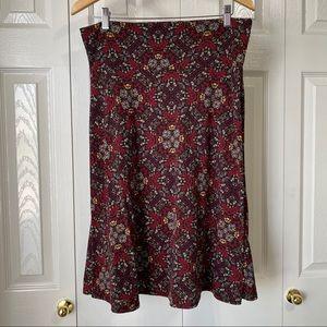 LulaRoe Skirt 😍 Cute 😍 Birds 🐦 Design on Red